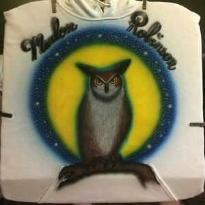 New OWL Airbrushed T-shirt Custom Made All Sizes